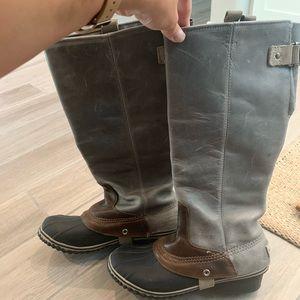Sorel slim pack rain boots
